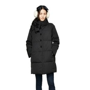 kate spade new york funnel-neck bow puffer coat